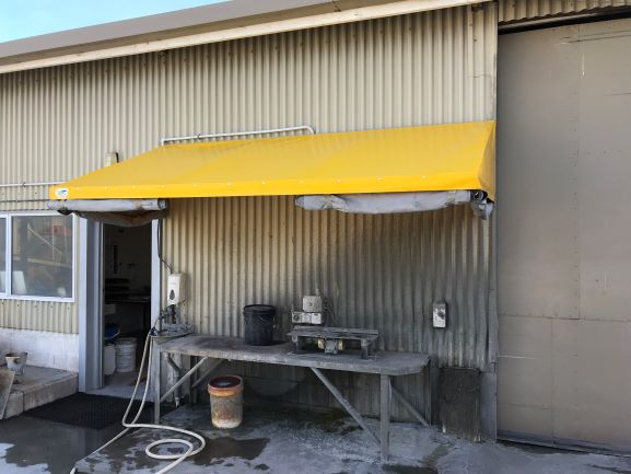 Yellow awning