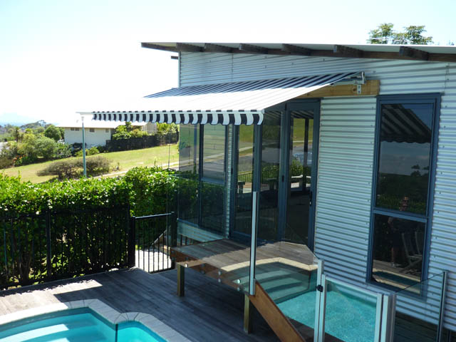 Striped House awning