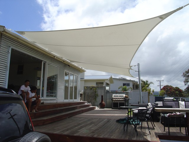 Shade Sail over a deck