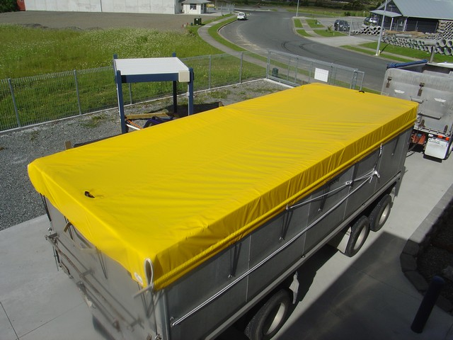 Yellow truck cover