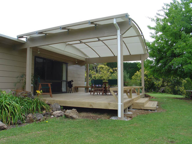 Canopy on house