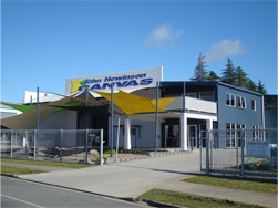 John Hewinson Canvas store front in Whangarei